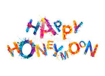 happy-honeymoon-splash-paint-watercolor-vector-inscription-92146548
